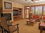 Gas Fireplace, HDTV, Audio System, & Sleeper Sofa