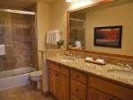 Dual sinks and beautiful quality in bathroom 2