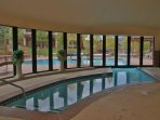 Indoor Outdoor heated pool at the Clubhouse