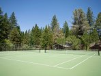 Challenge your travel companions to a tennis match on the community courts!