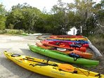 Kayak launch at Ted Sperling Park is around the corner - a 3 min walk