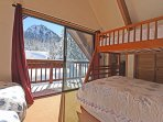 Access to the top deck overlooking  Alpine Meadows from the bunk room