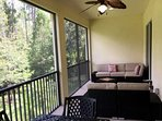 Preserve view and privacy on the large screened lanai. A great space to relax and entertain.