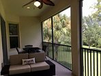 Preserve view and privacy on the large screened lanai, with plenty of space to take your entertaining outside.