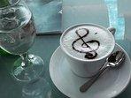 Coffee in nearest lounge bar