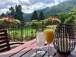 Enjoy the scrumptious Sunday brunch at the Maggie Valley Club, just a short stroll down the hill.