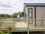 8 berth caravan for hire at Broadland Sands Holiday Park. Diamond - plus rated.