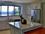 Newly renovated kitchen with stainless steel appliances & fully equipped.