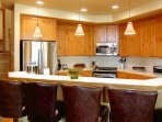 Comfortable Bar Stool Seating in the Kitchen