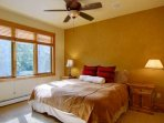 The Master Suite has a King Bed and Beautiful Views of the Mtn, Specifically Heavenly Daze