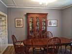 If you prefer a more formal meal, enjoy the dining room.  Great for holidays.