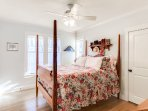 Guests room with queen bed.  Located off of sunroom.