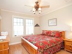 Guest room with king size bed.  Ralph Lauren linens.
