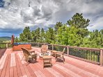 Enjoy incredible views and 35 acres of combined hillside, valleys, and treed area!