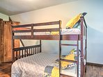 Children in your travel group will enjoy the full-over-full bunk bed in the third bedroom.