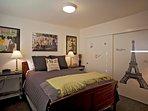 Paris bedroom with Queen size bed