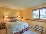 Head over to the master bedroom to fall asleep amidst the comforts of a plush queen bed!