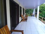 Your spacious balcony with 24/7 beach/ocean view & refreshing breeze:)