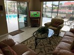 Family room with 40' TV Flat Screen