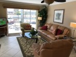 Family room, Queen size Sleeper/Sofa and 2nd Queen 18' Deep Air Mattress for another bed