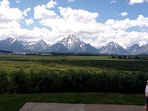 Summer with the Tetons as a backdrop,