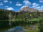 a near by high mountain lake