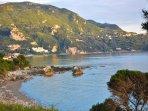 After Dechoumenes is the bay of Agios Gordios