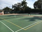 Two all-weather tennis courts are available.   Equipment is available at the front desk.