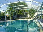 The only screened, heated pool on Sanibel