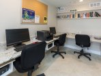 Retreat to our internet lounge for a fully-equipped quiet space