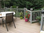 Town Harbor Lane Beach Cottage Rental - Back Deck