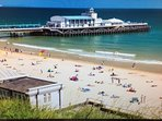 Enjoy the beautiful Bournemouth beaches at East Cliff with Blue Flag award