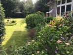 Garden view outside - sun loungers & gas BBQ available, weather permitting!