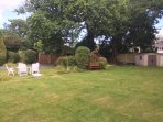 large area to sit and enjoy the garden to the rear of the house