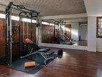 Gym and Yoga Room at caSabama Estate, Saba Bay, Bali