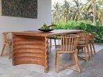 Villa Panggung open air Dining Room at caSabama Estate, Saba Bay, Bali