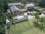 caSabama Estate, Saba Bay, Bali. Front L - Villa Sandiwara; R - Villa Panggung, Back - Villa Panjang