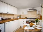 Smart kitchen with fold away dining table