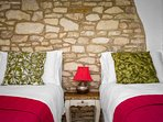 Exposed stone wall