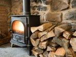 Cottage log burner