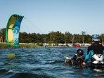 Kite lessons.