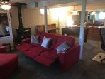 Recliner-couch, Twin Trundle Bed in Lower Level