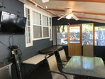 Screened-in Porch with HD TV and Patio Heater