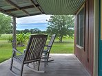 Relax in the rocking chairs and enjoy calm evenings on the farm.