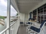 Sit on the deck and watch the pelicans, dolphins, manatees, and boats pass by each day.