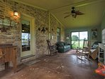 Step out to the enclosed patio to spend time with your friends and family.