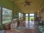 Open the windows and screen door to enjoy the warm Texas breeze.