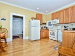 Spacious Kitchen with Beautiful Bamboo Floors throughout