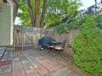 Private Patio with Cute Bistro Set and Propane Grill