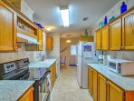 You'll have all the essential appliances and cooking utensils at your disposal.